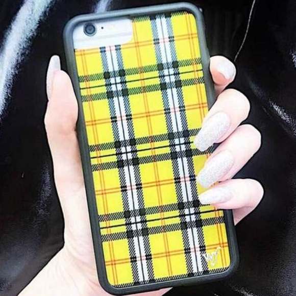 new product 185e8 9647b Wildflower Yellow Plaid iPhone 6/7/8 Case NWT